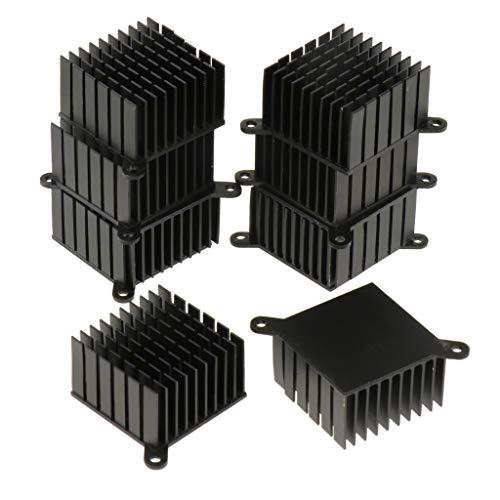 Almencla 10pcs Nero Alluminio Dissipatore Di Calore Dissipatore Di Calore Del Dissipatore Per Amplificatore A Led Transistor Dispositivi A Semiconduttore