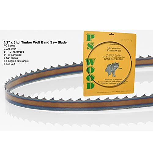 Timber Wolf Bandsaw Blade 1/2' x 80', 3 TPI