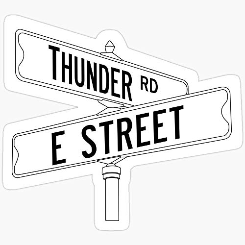 WillettaStore Bruce Springsteen and The E Street Band - Thunder Road Stickers (3 Pcs/Pack)