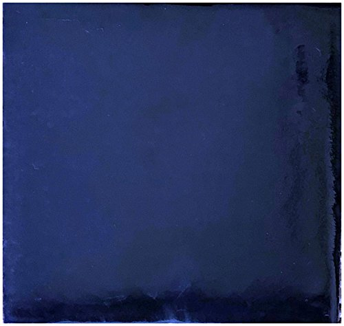 Rustico Tile and Stone TR4COBALT Cobalt Painted Tile Box of 90, 4 x 4, Navy Blue