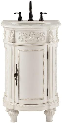 Home Decorators Collection Chelsea 22 W Single Bath Vanity 35 Hx22 Wx22 D Antique White Vanity Sinks Amazon Com
