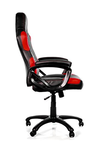 Arozzi Enzo Series Gaming Racing Style Swivel Chair, Black/Red