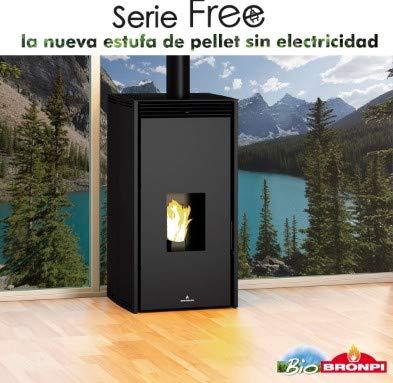 BRONPI Estufa DE Pellet SIN Electricidad...
