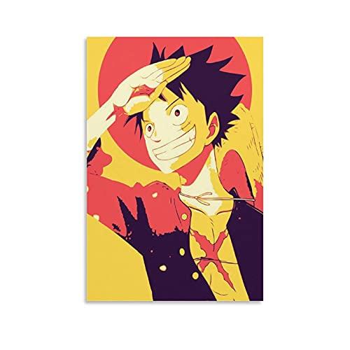 zhuangzhou Luffy Hopestyle Sombrero de paja Piratas Onepieces Anime Canvas Póster y arte de pared Impresión moderna para dormitorio familiar Pósters 40 x 60 cm
