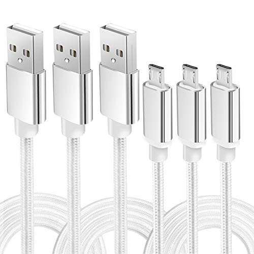 10 foot micro usb braided cable - 9