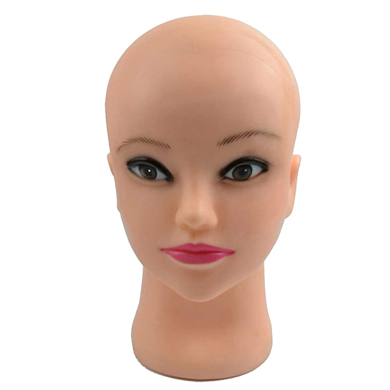 妻縞模様のちっちゃいSharplace マネキンヘッド メイク メイクトレーニング 化粧練習 アイライナー 口紅 エクステまつげ