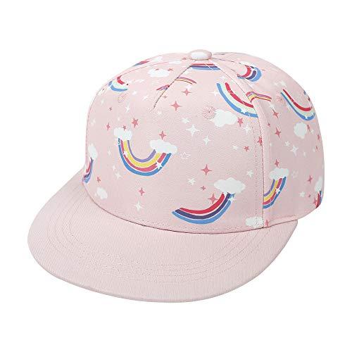 Idgreatim Baby Baseballmütze Kinder Snapback Cap süße Sonnenhüte Baseball Kappe mädchen Rosa Kappe Schulhut Outdoor-Hüte Mädchen Kinder im Alter von 4-8