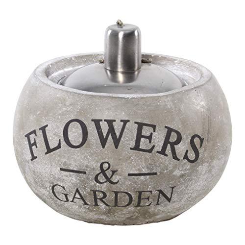 LLiving Öllampe Flowers & Garden Zement 14,5x14,5x18 cm grau