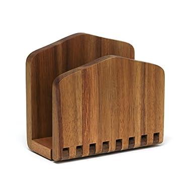 Lipper International 1160 Acacia Wood Adjustable Napkin Holder, 6-1/2  x 3-1/4  x 6