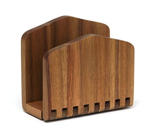 "Lipper International 1160 Acacia Wood Adjustable Napkin Holder, 6-1/2"" x 3-1/4"" x 6"""