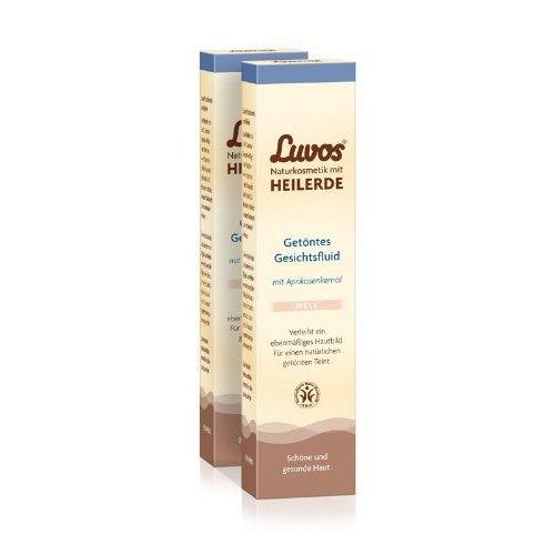Luvos Getöntes Gesichtsfluid Hell (2er Pack) - nährt und pflegt die Haut (2x50ml)