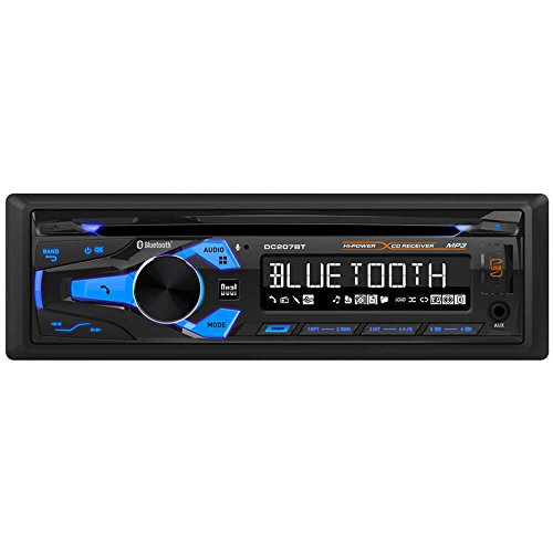 Dual Electronics DC207BT Multimedia 3 inch LCD Single DIN Car Stereo with Built-in Bluetooth, CD, USB, MP3 & WMA Player