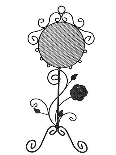 Oh My Shop PRB10 sieradenstandaard spiegel barok voor oorbellen, zwart