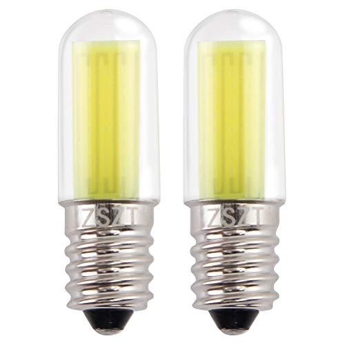 Bombillas para frigorifico LED E14 3W ZSZT (equivalente de bulbo del halógeno 25W) Blanco frío 6000K, 220-240V bombillas minúsculoas, 2 unidades…