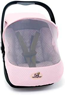 evc cozy sun and bug carrier cover pink