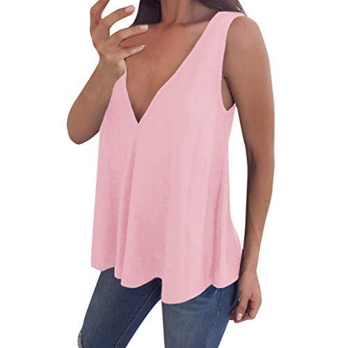 Bluse Damen Mädchen V Ausschnitt Tank Tops Ärmelloses T Shirt Sommer Weste Plus Size