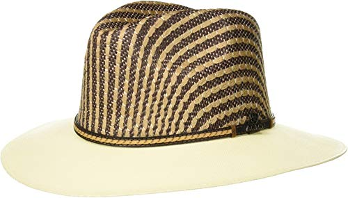 ARIAT Two-Tone Crown Fedora Ivory/Brown 7 3/8