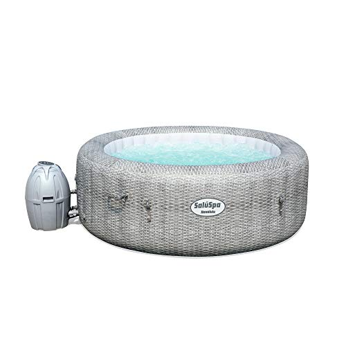Bestway 54295 SaluSpa AirJet 6 Person Honolulu Inflatable Outdoor Portable Hot Tub Spa with Cover, Pump, and Built in Filtration System