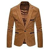 Covermason Chaqueta Casual Hombre Pana otoño, Abrigo de diseño de Moda de Invierno de los Hombres