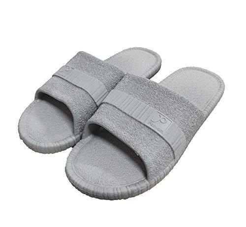 Zapatillas Antideslizantes Antideslizantes para Mujeres y Hombres Baño de Uso en el Interior Sandalia Suela de Espuma Suave Zapatos para Piscinas Inicio de Diapositivas (40/41EU, Grey)