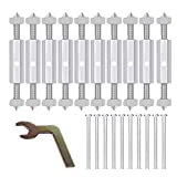 Teekit - Set di accessori per la riparazione di interruttori, prese di corrente, con viti, supporti, aste, per montaggio a parete di cassette per interruttori, accessori per riparazioni elettriche