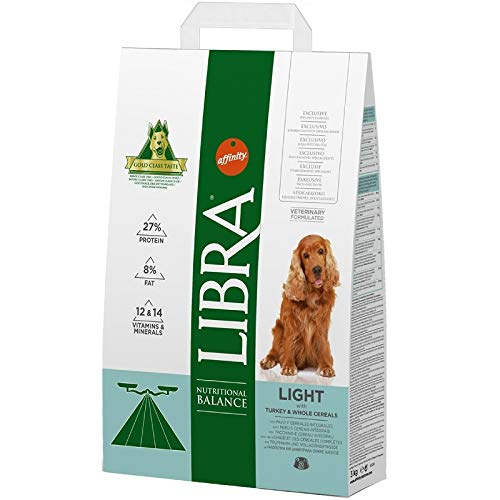 LIBRA - Pienso para Perros Adultos pequeños, medianos y Grandes Light Pavo y Cereales integrales ⭐