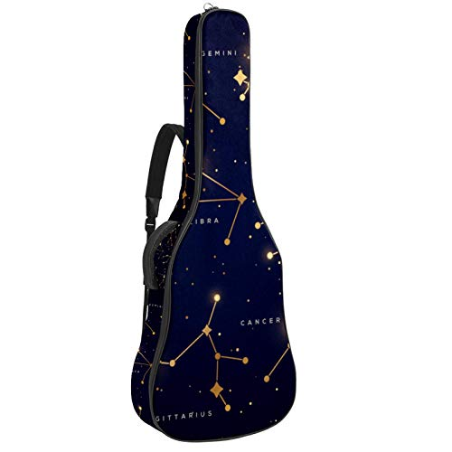 Zodiac Constellations Set Illustration - Mochila para guitarra (42.9 x 16.9 x 4.7 pulgadas)