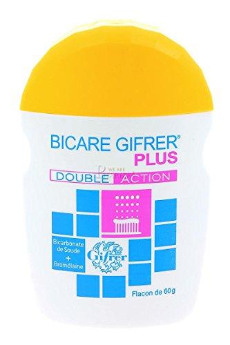Gifrer Bicare Plus Bicarbonate de Soude + Bromélaïne 60 g