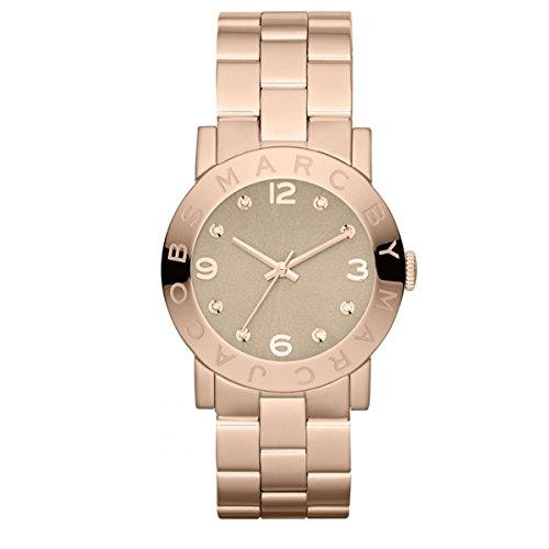 Marc by Marc Jacobs Damen-Armbanduhr Amy Roségold mit Zirkonia MBM3221