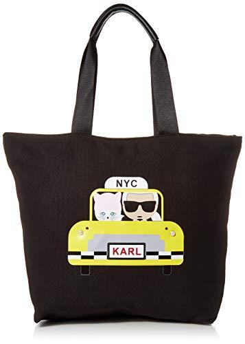 Karl Lagerfeld Paris Damen Kristen Tote Tragetasche, Taxi Yellow, Einheitsgröße