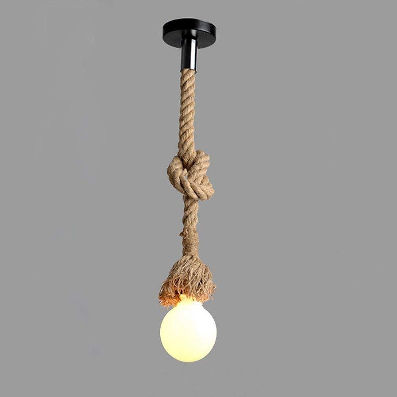Mkxiaowei La Corde rétro Suspendus café Restaurant Lumineux, décoration luminaires, Lampe Antique Corde, Lampe, plafonnier, Pendentif rétro Lampe E27