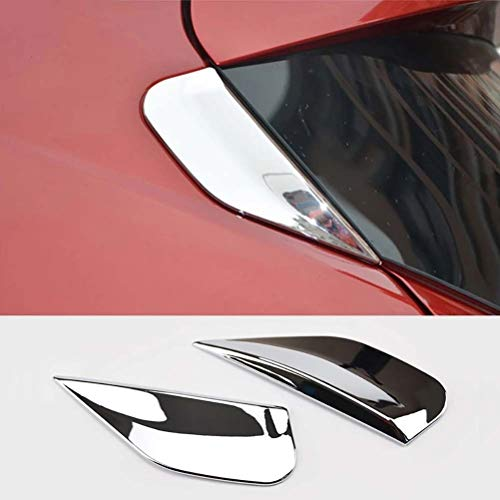 wuwenjun 2 Stück ABS Heckscheibe Spoilerabdeckung Verkleidung Säulenpfosten Formteil für Buick Encore Opel/Vauxhall Mokka X 2013 2014 2015 2016 2017 2018 2018