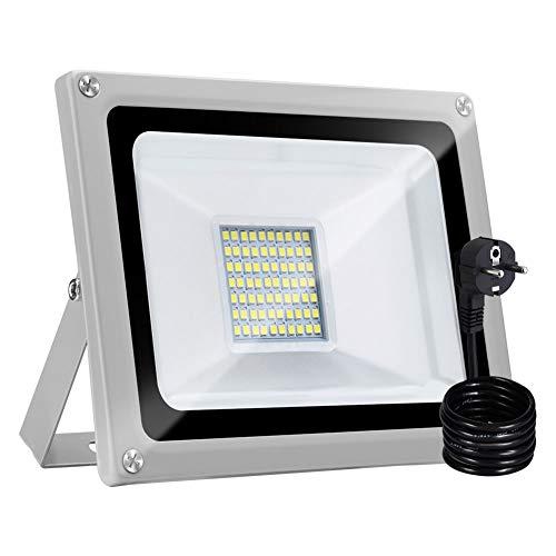 Bellanny 30W LED Strahler Außen, 2400LM Superhell LED Fluter, IP65 Wasserdicht Außenstrahler Flutlicht, 6500K Kaltweiß LED Scheinwerfer Aussen, für Fabriken,Gärten,Hof,Garage