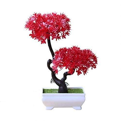 KGDC Decoración de Plantas Falsas Árbol de Planta Artificial Bonsai Fake Potted Ornament Árbol de árbol Artificial Altura 9.4'para la decoración Interior de la Oficina en casa Árbol Bonsai Artificial