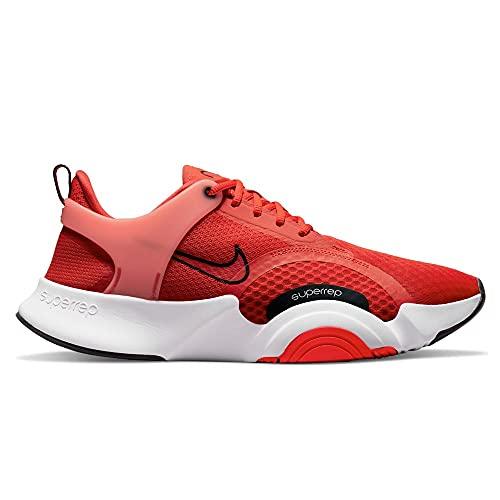 Nike SuperRep Go 2, Scarpe da Calcio Uomo, Chile Red/Black-White-Magic Ember, 40 EU