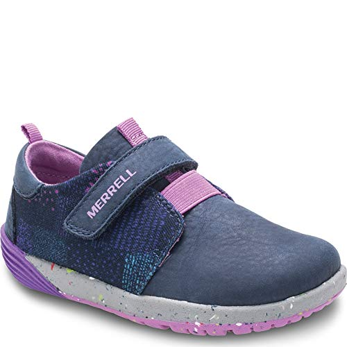 Merrell Kids' Unisex M-Bare Steps Sneaker Sneaker, Navy, 4 Medium US Toddler