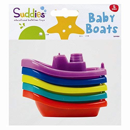 The Home Fusion Company Kinder Baby Bath Time Boote 5er Set Kunststoff Schwimmend Spielzeug