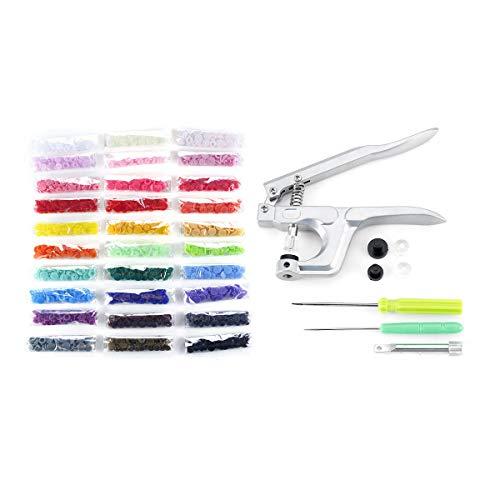 LENASH T5 30 Colores Sujetador Snap Snap Button Colorido Ropa de Resina formativa Botones Herramientas y Accesorios útiles. (Color : Type 2)