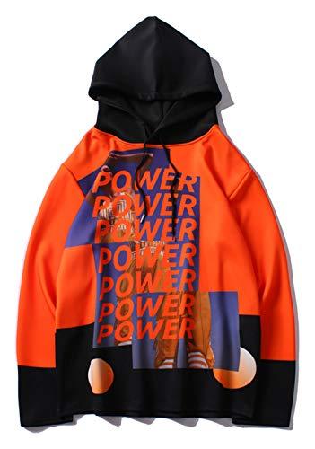 PIZOFF Unisex Hip-Hop Oversized 3D Print Kapuzenpullover neo Hyte Stars Power
