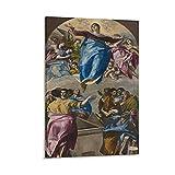 Poster, Gemälde: EI Greco Annahme der Jungfrau (El Greco),