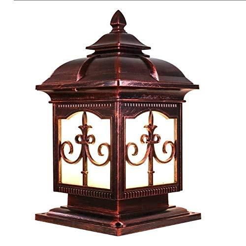 ZSMLB Luces de Pared para Exteriores Luz de Farol para Poste, Parque comunitario Lámparas de estigma LED Lámpara de Poste de Pilar Cuadrado Retro Chino Columna de Aluminio Impermeable Faros de Jar