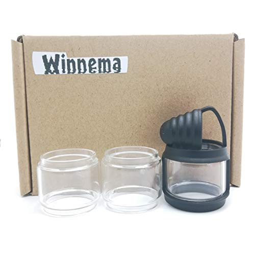 Winnema Silicone Rubber Bands Ring Anti Slip Protection Skin for 26mm OD 24mm Tall 9mL Bulb Glass Attached Drip Tip Cover (Black)