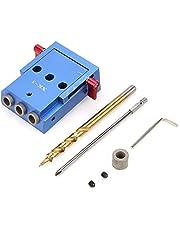 15° Pocket Gat Jig Boor Kit Boor Gids Set Houtbewerking Oblique Positioner Locator Tool