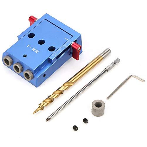 Pocket Hole Jig Kit, Holzbearbeitung Schräge Bohrer Guide Set, Positionierung Locator Werkzeug für DIY Holzbearbeitung Möbel Zimmerei Reparatur