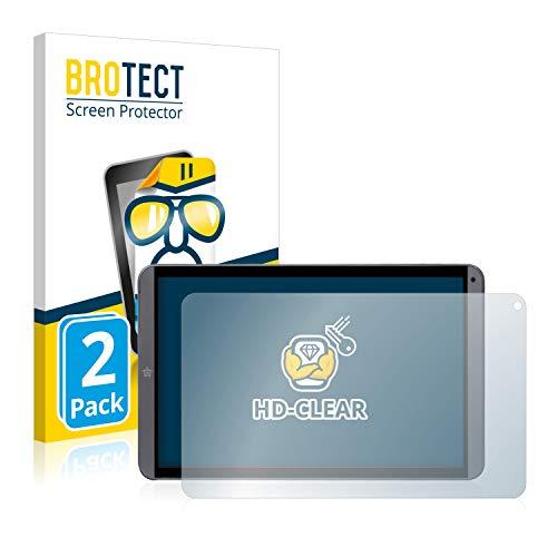 brotect Pellicola Protettiva Compatibile con Mediacom SmartPad MX 10 HD Lite M-SP10MXHL Pellicola Trasparente (2 Pezzi) Anti-Impronte