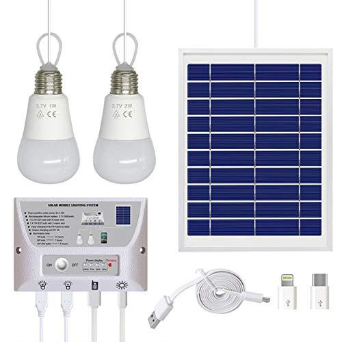 Solar Light Photovoltaik Power Bank Handy aufladen tragbare Solaranlage - weiß