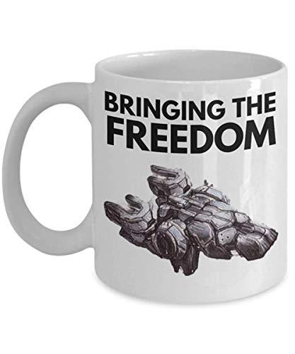 Starcraft 2 Tassen 'Terran Mug Bringing The Freedom Liberator Mug' Einzigartige Gaming-Tasse für Starcraft 2 Fans 11 Unzen Keramik Kaffeetasse Teetasse Hochglanz