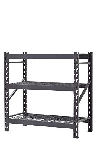 Unidad de estantería de almacenamiento de garaje de acero soldada con 3 estantes
