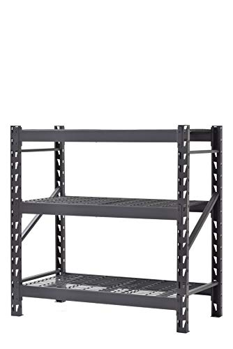 3-Shelf Welded Steel Garage Storage Shelving Unit