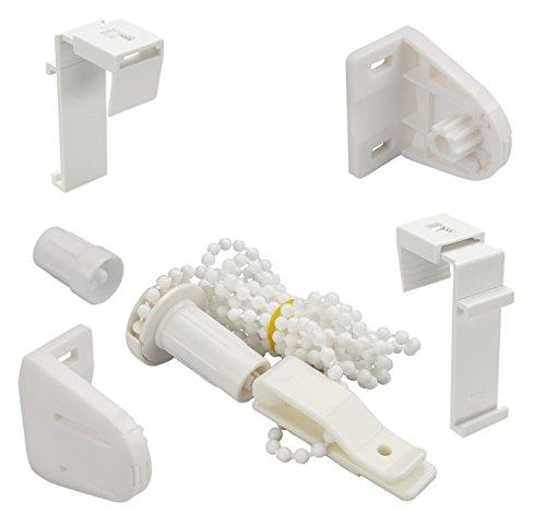 Garduna Zubehör-Set für alle Fix/Smartfix-Rollos UND Doppelrollos | Klemmträger, Kettenzug, Halterungen | 1 Set